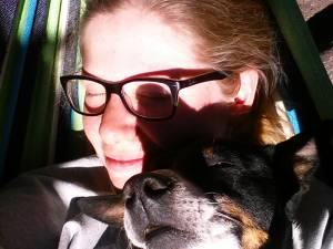 Shanna and I in the hammock